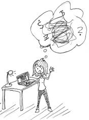 Manchmal fühlt sich Schreiben an, als wäre da nur Chaos im Kopf!